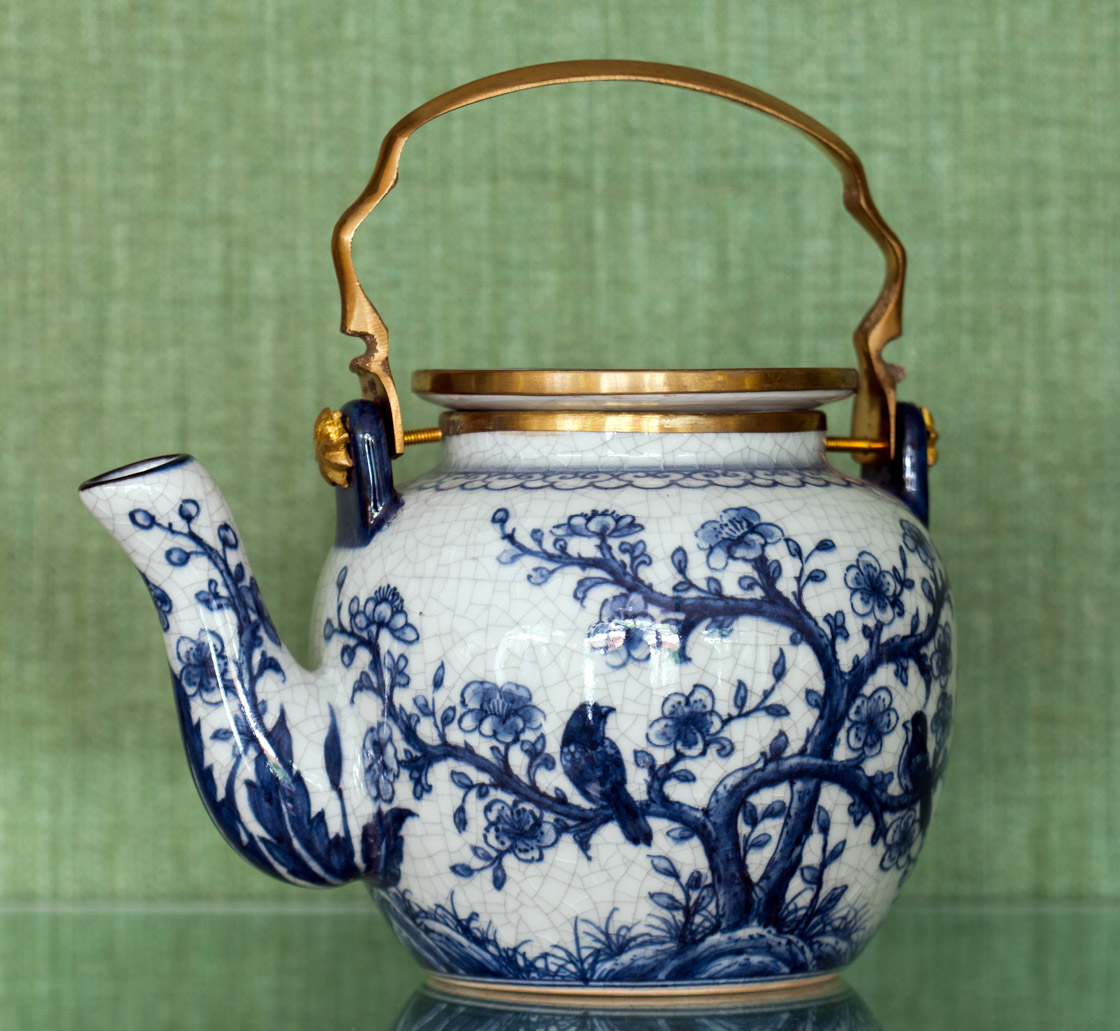 Detail of the teapots collection
